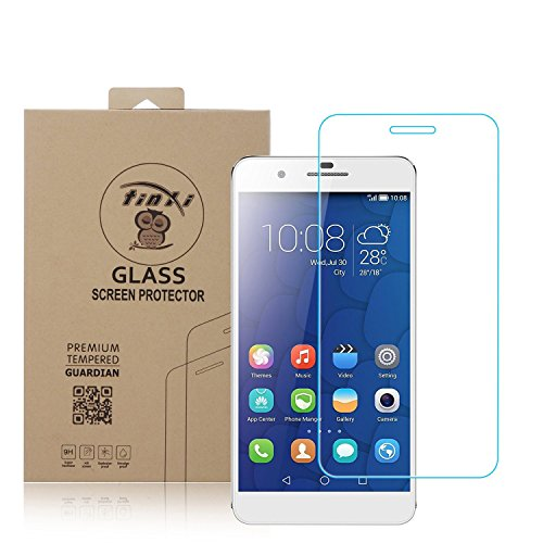 tinxi® Tempered Explosionsgeschützte Glass Hartglas für Huawei Honor 6 Plus Premium Screen Protector Ultra Hart Panzerfolie Displayschutz 2.5D 0,3mm