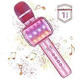 Microphone Karaoké Sans Fil Bluetooth Fede avec Lumière LED Multi couleur, Micro à...