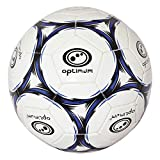 Optimum Classico Herren-Fußball Weiß schwarz / blau Größe 5