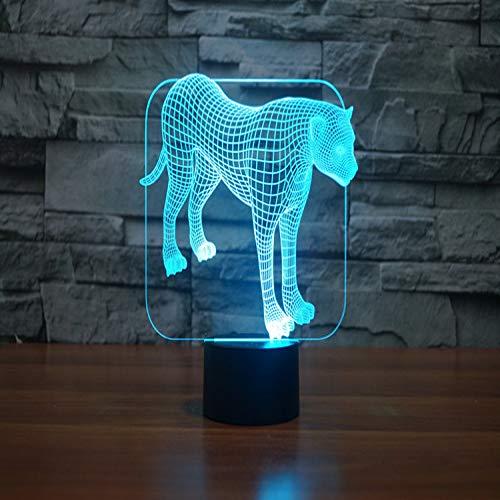 orangeww Farbwechsel Blinkende Touch Sensor Control Leoparden Acryl 3d Led Schlafzimmer Nachtlicht Led Usb Tischlampen Touch remote - Gabbana Leopard