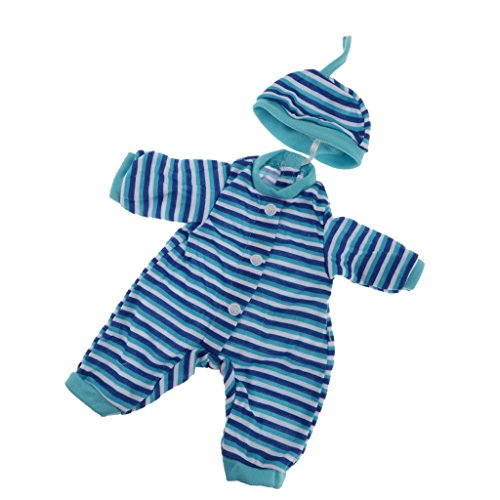 Baoblaze Schöne Puppenkleidung Overall Jumpsuit Outfit für 36 cm Puppe Dress Up - F - Blau (Outfit Baby-dress Up)