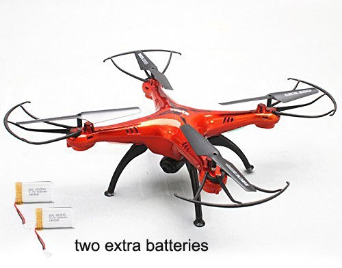 Yacool ® Syma X5SC Exploradores 2 - 2.4G 4 canales 6-Axis Gyro RC sin cabeza Quadcopter con HD cámara-Naranja(2 extra betteries)