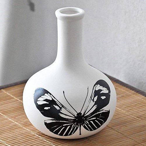 Coming B Vase en Porcelaine Natura Boule Papillon (16 cm)