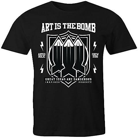 Art Is The Bomb T-Shirt - Black - X-Large