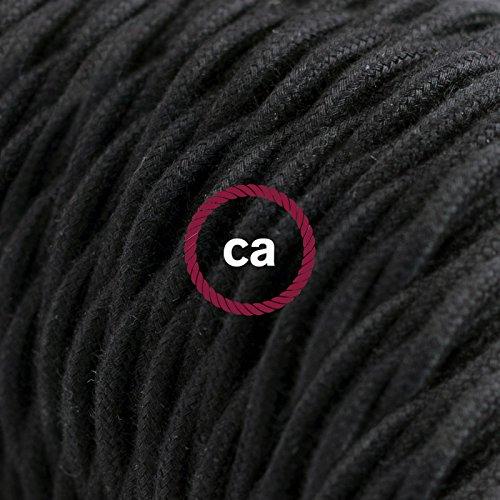 fil-lectrique-torsad-gaine-de-coton-de-couleur-tissu-uni-noir-tc04-10-mtres-2x075