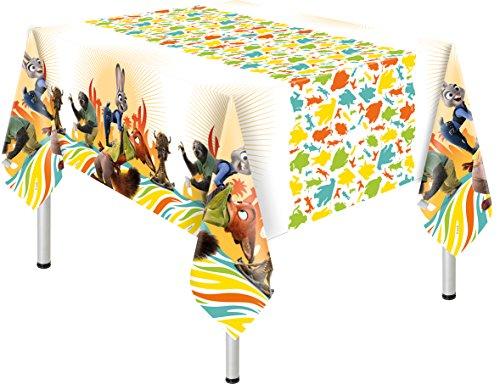s Kunststoff Disney zootropolis Tischdecke, 1,8m x 1,2m (Herr Der Ringe Party Supplies)