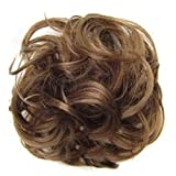 Bodhi2000 Women Wavy Curly Hair Bun Scrunchie Hair Extension Chignon Hairpieces