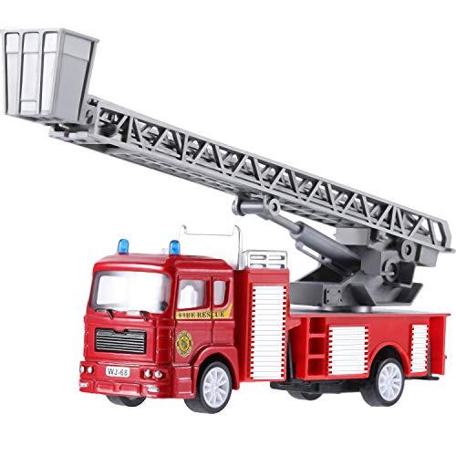 feuerwehrkran spielzeug Tatuo Feuer LKW Spielzeug Reibung Angetriebenen Auto Rote Löschfahrzeug LKW für Kleinkind Jungen Geschenke