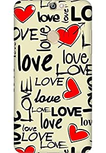 Amez designer printed 3d premium high quality back case cover for Coolpad Max (Love art texture colorful heart)