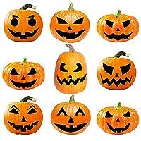 URATOT Halloween Pumpkin Decorating Craft Kits Halloween Pumpkin Sticker DIY Pumpkin Face Stickers for Halloween Party Decoration Props