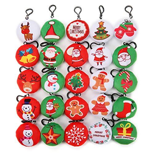 King Do Way - Juego de 25 laveros con diseño de Halloween o Navidad para decorar bolsos, mochilas, etc.