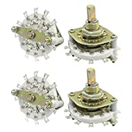 4pcs 3P3T 3 Pole 3 Throw One Deck Band Channel Rotary Switch KCZ3*3