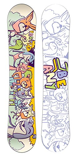 Beany party, freeride snowboard unisex bambini, multicolore, 130.0
