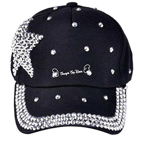 Fashion Star Rhinestone Diamond Casquette De Baseball En Plein Air Wind Proof Chapeau Réglable Unisexe