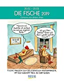 Fische 2019: Sternzeichenkalender-Cartoonkalender als Wandkalender im Format 19 x 24 cm. -