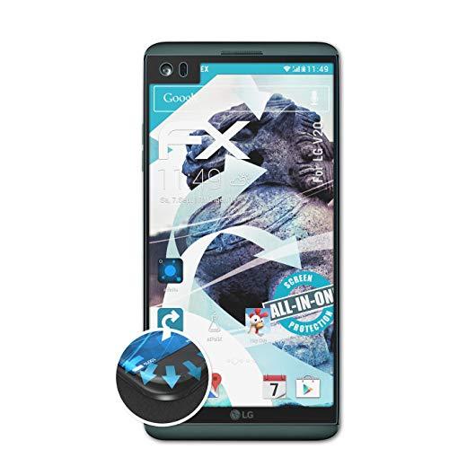 atFolix Schutzfolie passend für LG V20 Folie, ultraklare & Flexible FX Bildschirmschutzfolie (3X)