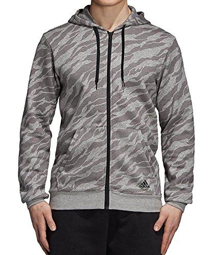 adidas Herren Essentials AOP Full Zip Kapuzen-Jacke, Medium Grey Heather, M Preisvergleich