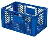 Eurobehälter / Stapelkorb / Bäckerkiste, LxBxH 600 x 400 x 320 mm, blau, Inhalt 63 Liter
