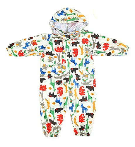 CADong Kids Puddle Suits Boys Girls Rainwear Lightweight Raincoat All in One Waterproof Rainsuit 1-7 Years