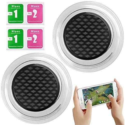 AFUNTA Big Dipper Joystick für Handy Spiele, 2 Packs Touch Screen Rocker Controller Joypad für Smartphone Tablet Tactile - Schwarz