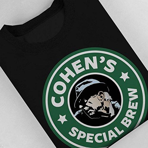 Leonard Cohens Special Brew Starbucks Logo Women's Sweatshirt Black