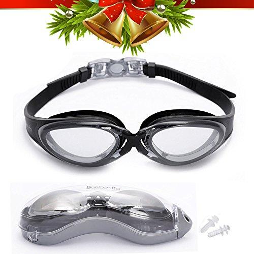 Bezzee Pro Schwimmbrille – klare Gläser - Antibeschlagbeschichtung – Wasserdicht - Schwimmbrille für Erwachsene Männer Frauen Kinder Jugendliche +10 – Beinhaltet ein Schutzetui & Ohrstöpsel