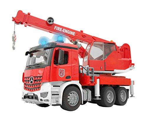feuerwehrkran spielzeug bruder 3675 Fahrzeug Mercedes Benz Arocs Feuerwehr-Kran