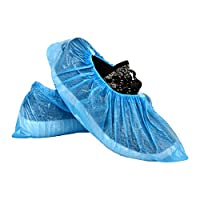 ASHWA GROUP Blue Disposable Plastic Shoe Cover - Pack of 100