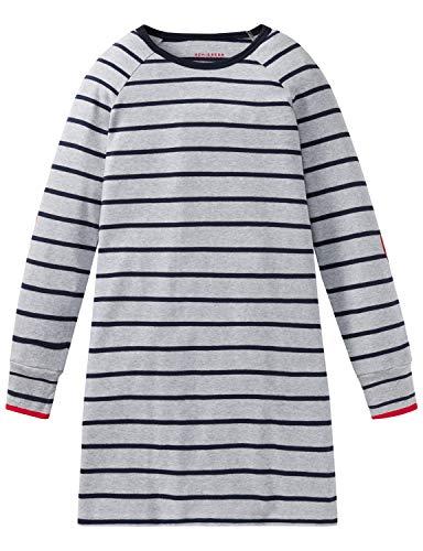 Schiesser Mädchen Sleepshirt 1/1 Nachthemd, (Grau-Mel. 202), (Herstellergröße: 176)