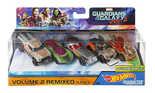 Mattel Hot Wheels dxm19 – Marvel Character Car Guardians of The Galaxy 5 Unidades, 1: 64 Vehículos, autopistas/Accesorios