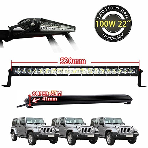 Hawk LED Bar For All Car's & SUV's Slim Bar Powerful CREE 100W Spot Beam (20LED x 5W = 100W)