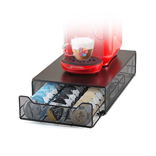 HiveNets Tassimo Porte Capsules Présentoir Distributeur Tiroir de Rangement Métal Stockage Pour Machine à Café