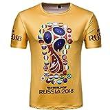 WTUS Russia 2018 World Cup Maglia Calcio Sport T-Shirt Uomo - Cotone