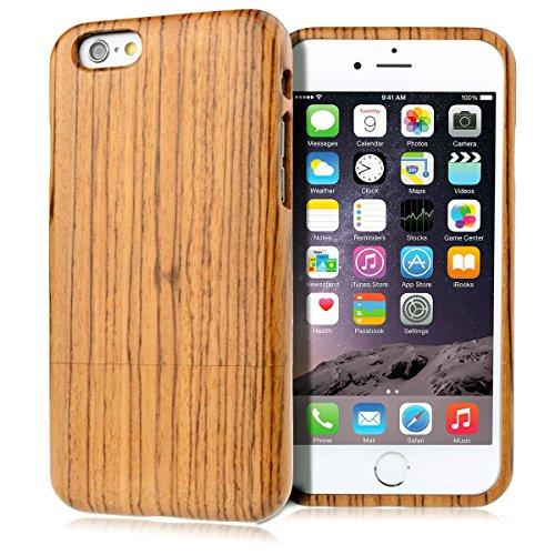 GrandEver Hand Natürliche Bambusholz Fest Schutzhülle Hard Case für iPhone 6 6S Plus (5.5') Case Cover Shell Telefon Schutzhülle Etui Handy Tasche Hülle für iPhone 6 6S Plus (5.5') (Löwenzahn) Klassisch