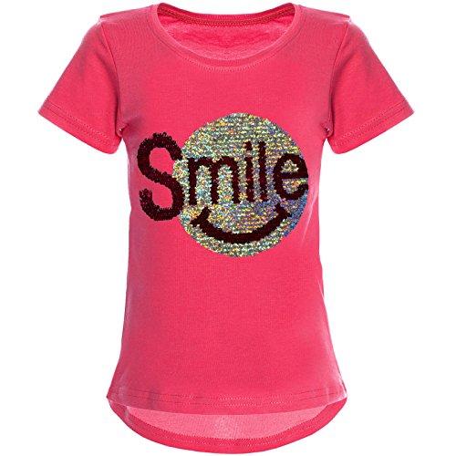 BEZLIT Mädchen Wendepailletten T-Shirt mit Tollem Motiv 22030, Farbe:Pink, Größe:164