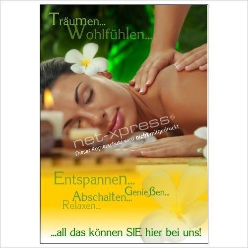 Foto de Cartel para masajes para Anuncio de bienestar A1, Cartel de Publicidad Cartel Póster Publicidad