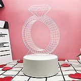 Regalo luz corazón neta regalo creativo luz neta roja para enviar a hombres y mujeres dios cumpleaños regalo empresa logotipo, anillo, botón interruptor (color)