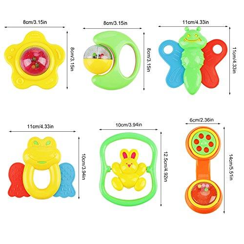 Liineparalle 6 Unids Plástico Bebé Sonajeros Mordedores