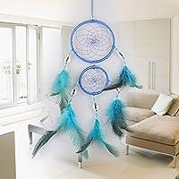 Mayitr Dreamcatcher Plumas Decoración Conchas Colgante Pared, Longitud 48cm