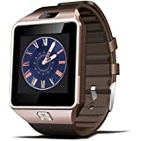 Smart Watch Bluetooth GT08, reloj de pulsera para Android Samsung HTC LG Sony Huawei (todas las funciones), iOS iPhone 5/5S/6/Plus, DZ09 With Camera glod