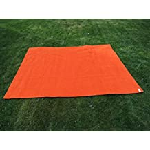 Toalla manta NARANJA 150x200cm , 100%algodón, 460gr/m2, fabricada en Portugal