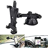 "Tablet Holder for Car Mount,Universal Dashboard Windshield Suction Cup Sticky Gel with Telescopic Extension Rod 360° Adjustable Rotating for iPad/iPad Air/iPad Mini Samsung Galaxy size 6""- 10.5"""