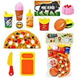 Jiada Fast Food Lunch Play Pizza Set Toy for Kids| Restaurant Role Pretend Play
