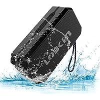 LOBKIN Impermeable IPX6 Altavoz portátil Bluetooth estéreo de 3W Anti-Polvo, Anti-caída al Aire Libre Pensamiento Altavoz inalámbrico Incorporado en 1800mAh batería Recargable (Negro)