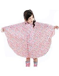 hibote Enfant Big Eaves Chapeau Poncho Baby Kids imperméable à l'environnement Raincoat 75-145cm