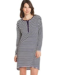 Calida Smoothy Stripes Langarm Big Shirt Damen