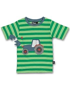 UBANG–Maglietta con trattore in verde a righe