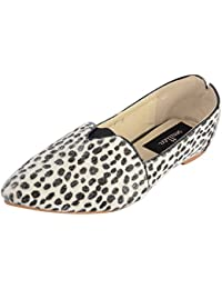 Smitten Formals & Lace-Up Flats For Women ( Black And White )