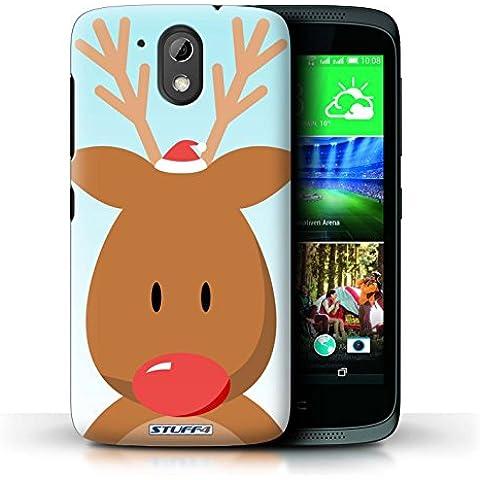 Carcasa/Funda STUFF4 dura para el HTC Desire 526G+ / serie: Carácter de Navidad - Rudolph/Renos