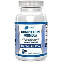Pastillas para el acné con ácido pantoténico y vitamina B5 - Fórmula para el cutis Lé Fair - Suplemento natural para el acné y los puntos negros para el acné de la espalda, el acné hormonal, el acné quístico y el acné adulto - Seguro para adolescentes y adultos